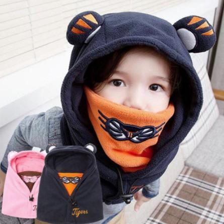 子供の冬帽子、耳あて、ベビー帽子、冬の襟、ヘッ...