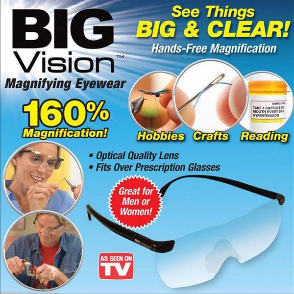 拡大鏡 眼鏡タイプ 軽量 1.6倍 ルーペ眼鏡 ...