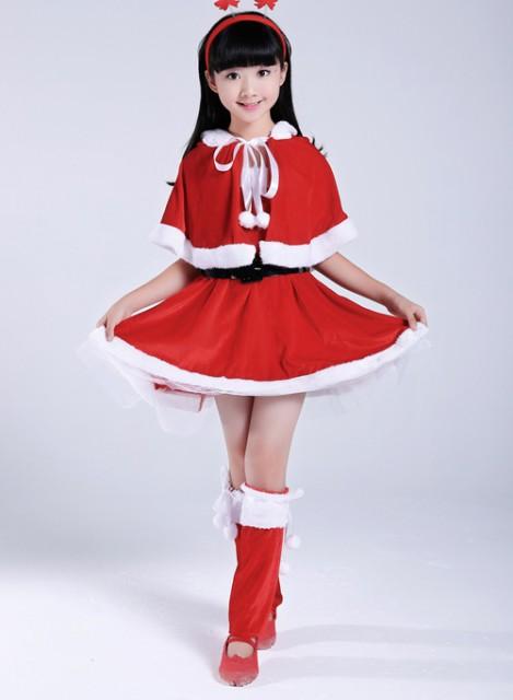 2e571110cc5ce サンタ コスプレ サンタ衣装 ワンピース ポンチョ ネコ耳 子供 キッズ クリスマス ...