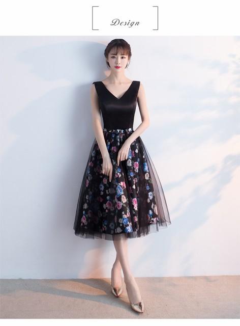 新品 花柄 上品 ミニドレス ウェディングドレス ...