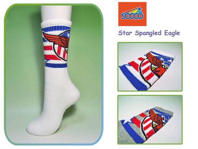 【SOCCO】ソッコ Star Spangled Eagle Crew Socks...