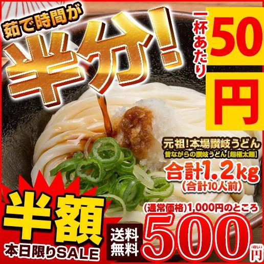 讃岐うどん 10人前(240g×5) 送料無料 本場讃岐う...