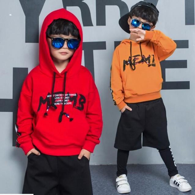 韓国子供服 男の子長袖 2点セットパーカー&ロン...
