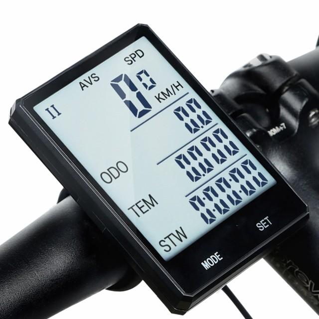 2.8インチ 大画面 自転車 コンピュータ ワイヤレ...