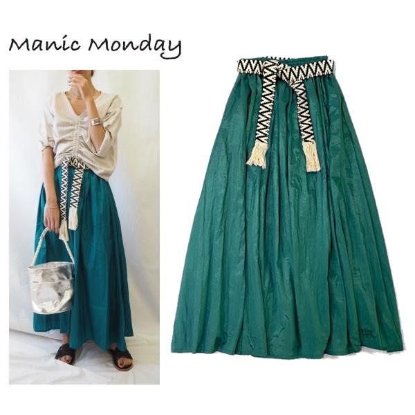 Manic Monday マニックマンデー Shiny Long Skirt...