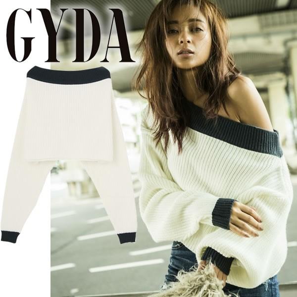 GYDA ジェイダ バイカラーオフショルKT TOPS ト...