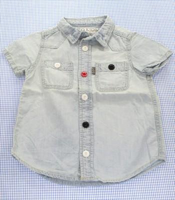 エフオーキッズ F.O.KIDS デニム 半袖シャツ 110c...