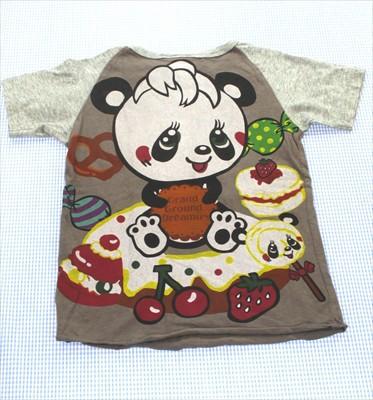 グラグラ GRAND GROUND Tシャツ 半袖 110cm 茶/グ...