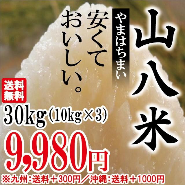 当店人気No.1 山八米 30kg(10kg×3)お米 安い【...
