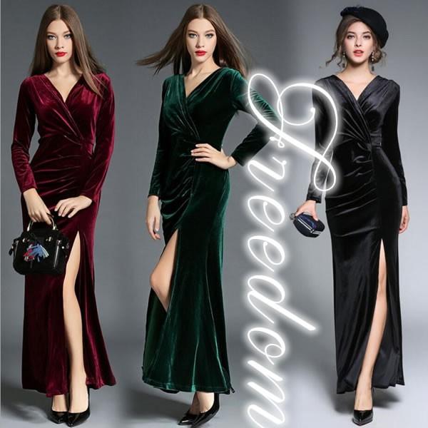 セール ドレス 結婚式 大きいサイズ★ 艶感ベルベ...