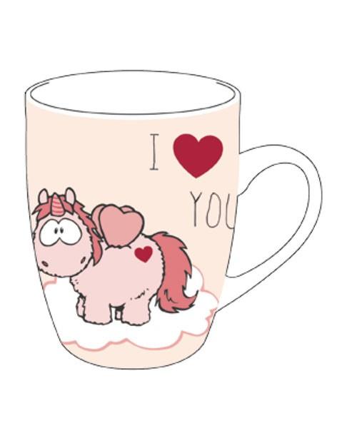 NICI マグカップ/ユニコーン ラブリ/I HEART YOU