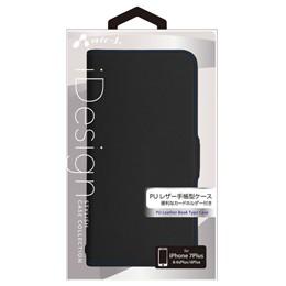 ●◆エアージェイ iPhone7plus(本革薄型手帳)ブラ...