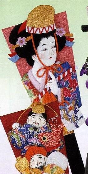 東芸押し絵キット H8715 「羽子板・汐汲 (しおく...
