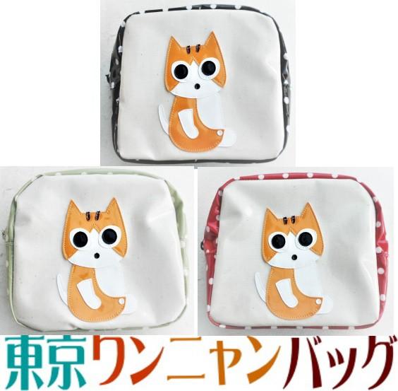 【送料無料】ポーチ 小物入れ 大き目 猫柄 茶トラ...