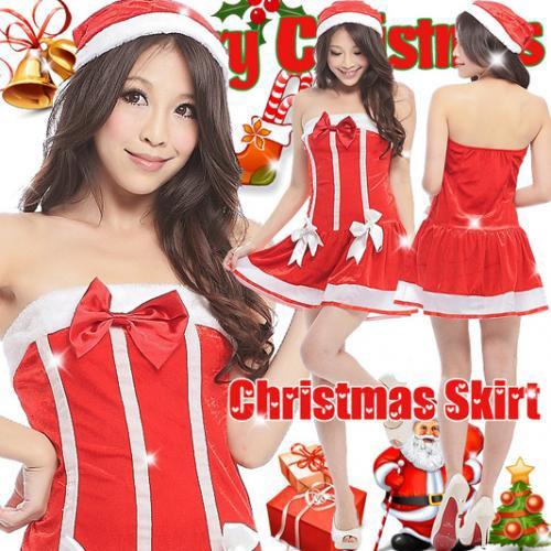 【即納】リボン サンタコスチューム クリスマス ...
