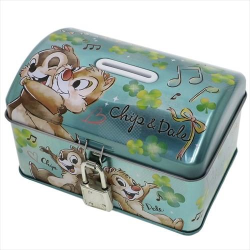 ◆《キッズ》チップ&デール 鍵付き 宝箱 缶バン...