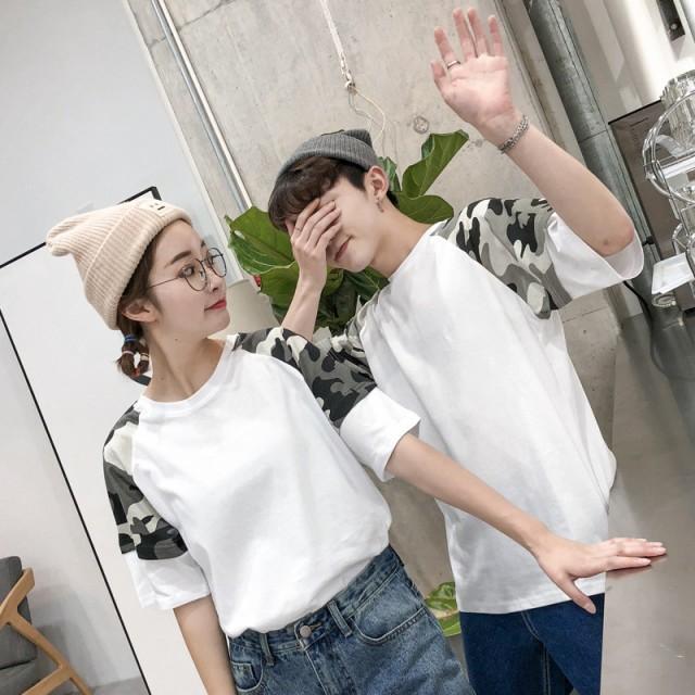 ペアルック カップル 夏 お揃い Tシャツ カップル...