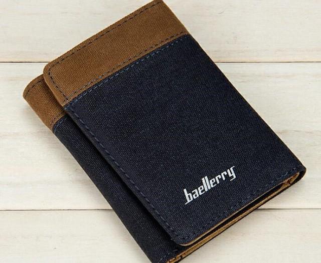 【送料無料】三つ折り 財布 メンズ 帆布 キャンバ...