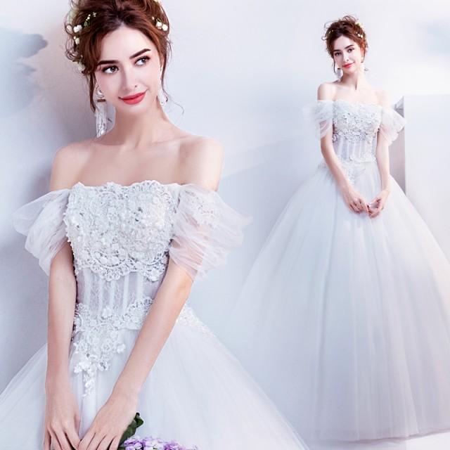 9f99444920ca5 プリンセスライン ウェディングドレス 安いウエディングドレス二次会花嫁パーティードレス 披露宴結婚式 エンパイア ロング