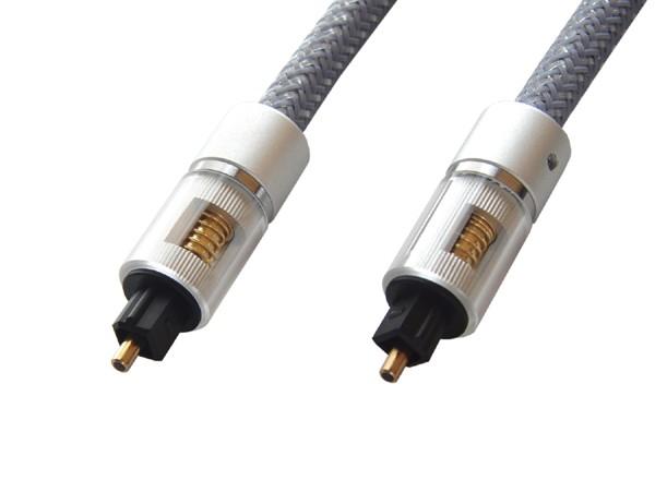 光デジタルケーブル グレー 0.5m ハイレゾ音源対...
