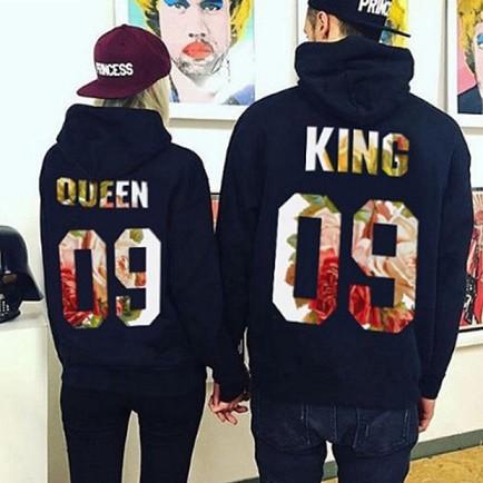 カップルにおすすめ!KING&QUEENパーカー K105