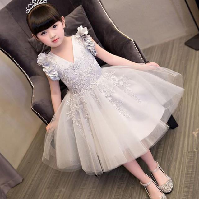 100-160子供ドレス フォーマル ドレス 演出 お姫...
