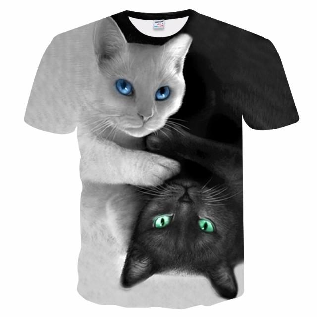 【送料無料】猫 猫柄 Tシャツ メンズ ユニーク ...