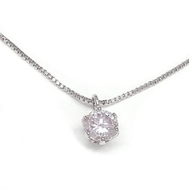 純プラチナ999天然ピンクダイヤモンドネックレス...