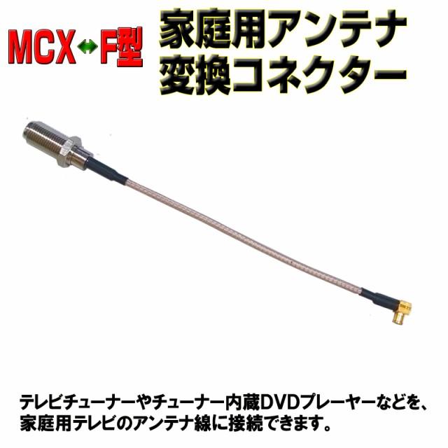 【送料無料】MCX(オス)−アンテナ(F型メス)変...