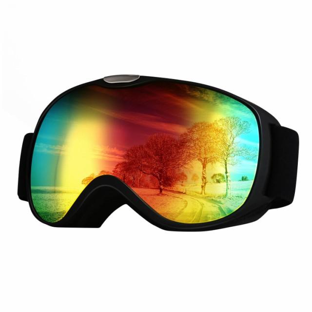 Mersteyo 軽量ゴーグル スキー用 UVカット 曇り止...