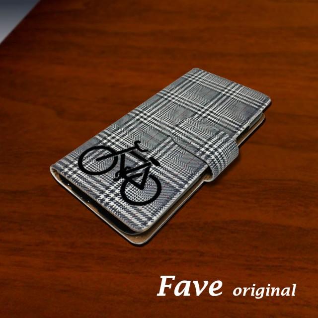 自転車(グレンチェック) スマホケース iPhone 手...