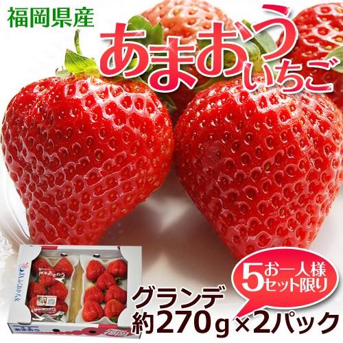 福岡県産 あまおういちご G(グランデ) 約270g×...