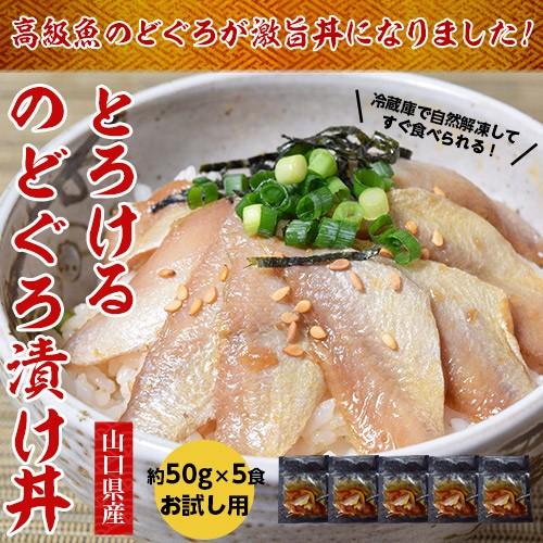 山口県産「とろけるのどぐろ漬け丼」お試し5食セ...
