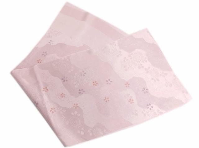正絹帯揚げ帯上げ薄あずき紫色地流雲古典花 フォ...