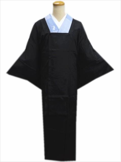 二部式和装雨コート(レインコート)黒色 着物時...