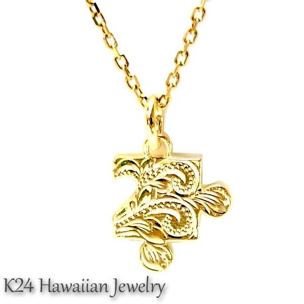 送料無料 ハワイアンジュエリー K24 純金 コーテ...