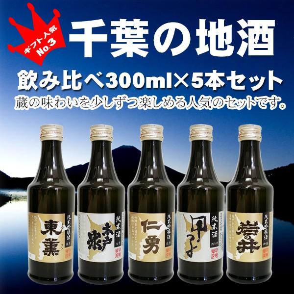 【ギフト】ちばの地酒飲み比べ 300ml×5セット!!