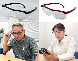 【メガネ型拡大ルーペ 男女兼用】メガネの上から...