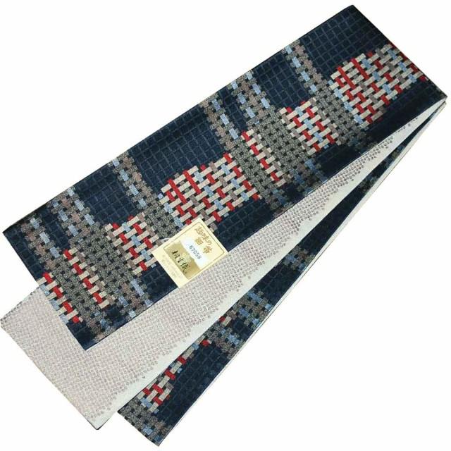 日本製 桐生織 長尺 半幅帯 東レシルック糸使用 ...