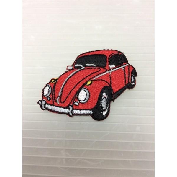 小型刺繍ワッペン(EE) (VWビートル赤)フォル...
