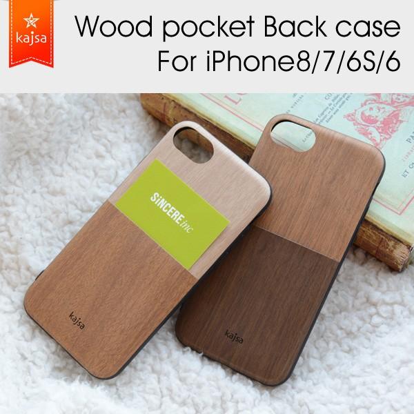 Kajsa カイサ Wood pocket back case ウッドポケ...