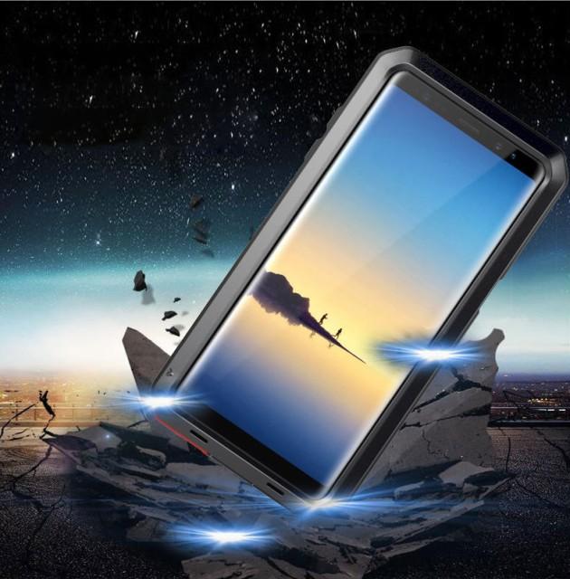 軍規格 Galaxy note8 ケース アルミニウム 金属耐...