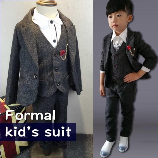 093af3ba027ec 入学式 子供スーツ 男の子 キッズスーツ おしゃれ 子供 卒園式 ジャケット ベスト パンツ ベルト