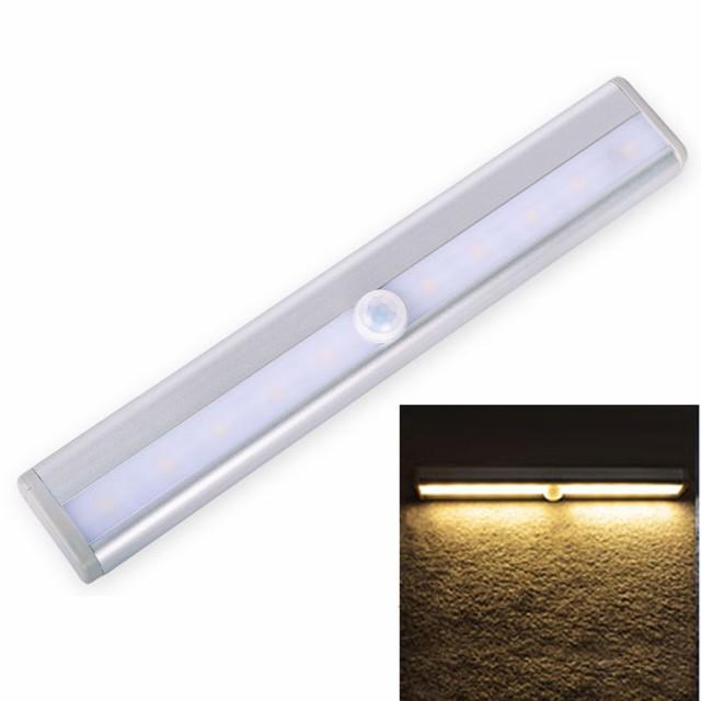 LED ナイトライト 10LED モーションセンサー クロ...