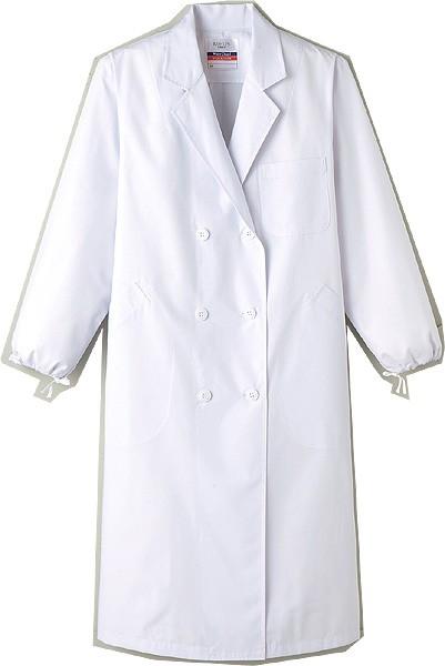 MR125 女性用 診察衣 実験衣 長袖 ホワイト ...