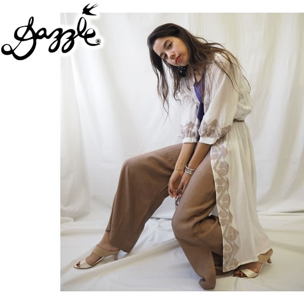 DAZZLE ダズル Embroidery Long Cardigan エンブ...