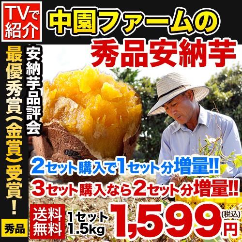 TVで紹介!種子島の秀品安納芋(A品)1.5kg入り★品...