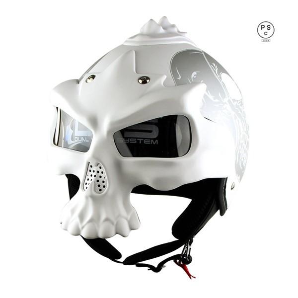 バイク用 3/4ヘルメット バイクヘルメット ジェッ...