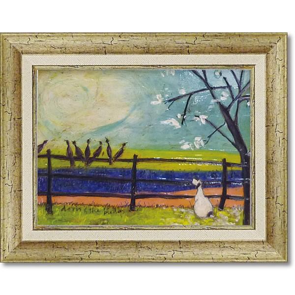 絵画 人気作家 サム トフト 「ドリスと鳥たち」 S...