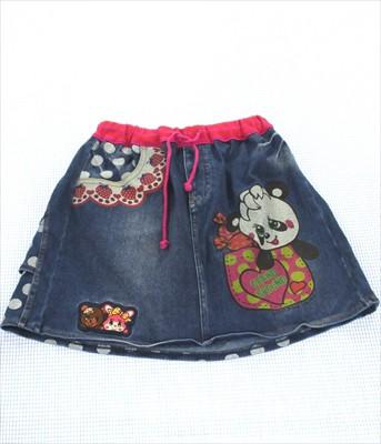 グラグラ GRAND GROUND デニム スカート 140cm 女...